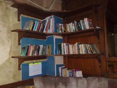 Social centre starts a library.